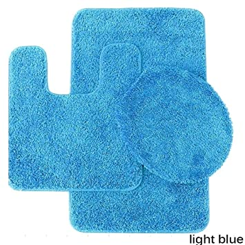 Amazon Com Bed Bath N More Florence 3 Piece Bathroom Rug And Toilet