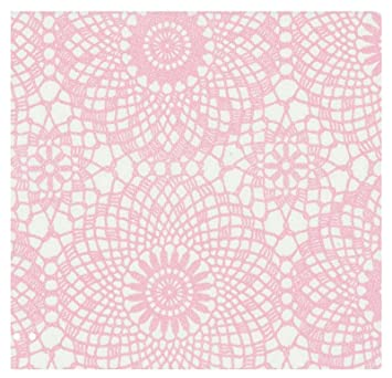 i.stHOME Klebefolie - Möbelfolie - Spitze rosa Weiss 45 x 200 cm - Vintage  Dekorfolie selbstklebend, Selbstklebende Folie für Möbel, Küche und ...