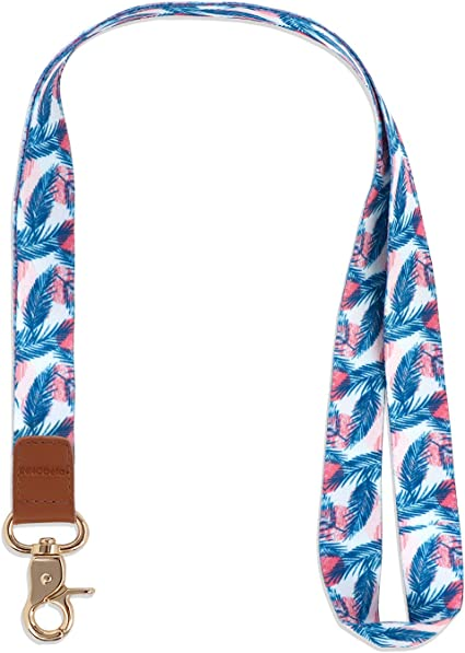 INNObeta Llaves Cuello Cuelga Correa para Cuello Cuerda con Colgar de Piel Genuina para el Key, Teléfono Móvil, USB, Tarjetas de Identificación (Palma): Amazon.es: Oficina y papelería