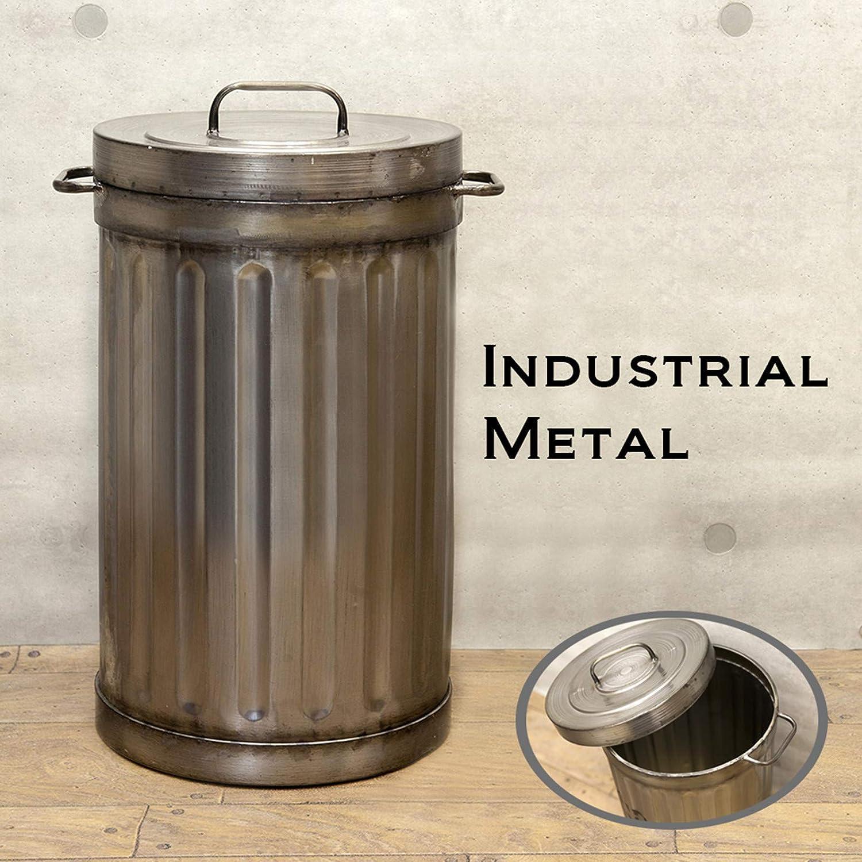 インダストリアル メタル ダストボックス ゴミ箱