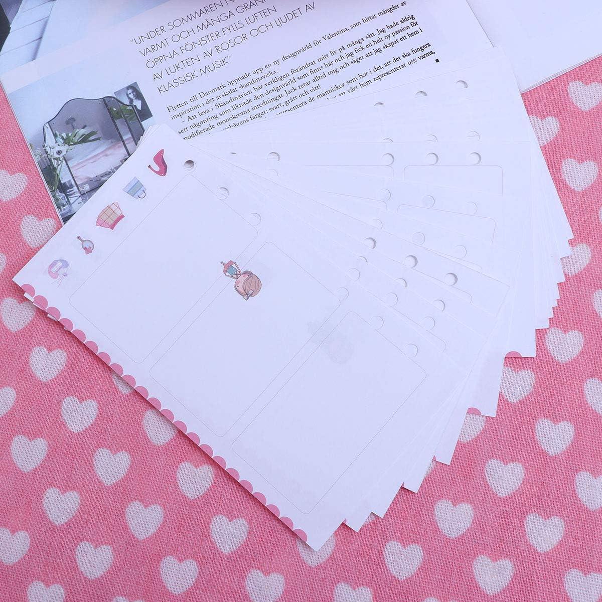 Nachf/üllpapier NUOBESTY A6 6-Loch M/öbelpapier buntes F/üllpapier Nachf/üllpapier f/ür Ordner NotebookDairy Traveler Tageb/ücher 6 Seiten 24 Seiten