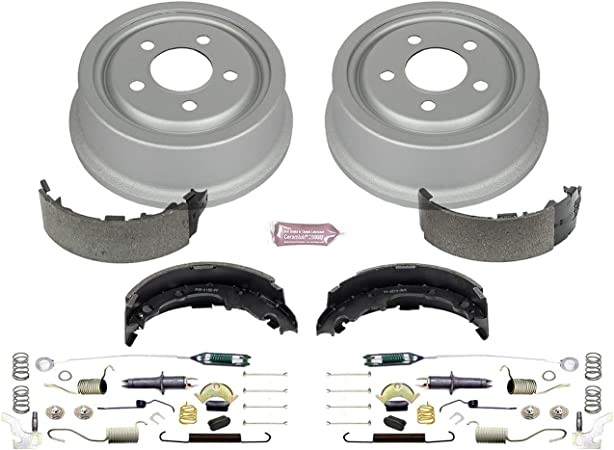 Brake Drums and Brake Shoes Power Stop KOE15336DK Autospeciality Rear Brake Drum Kit
