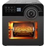 Schloß GAF14 Air Fryer Multifunction Toaster Oven Combo for Family with Baking Accessories and Recipe, 15Qt, Black