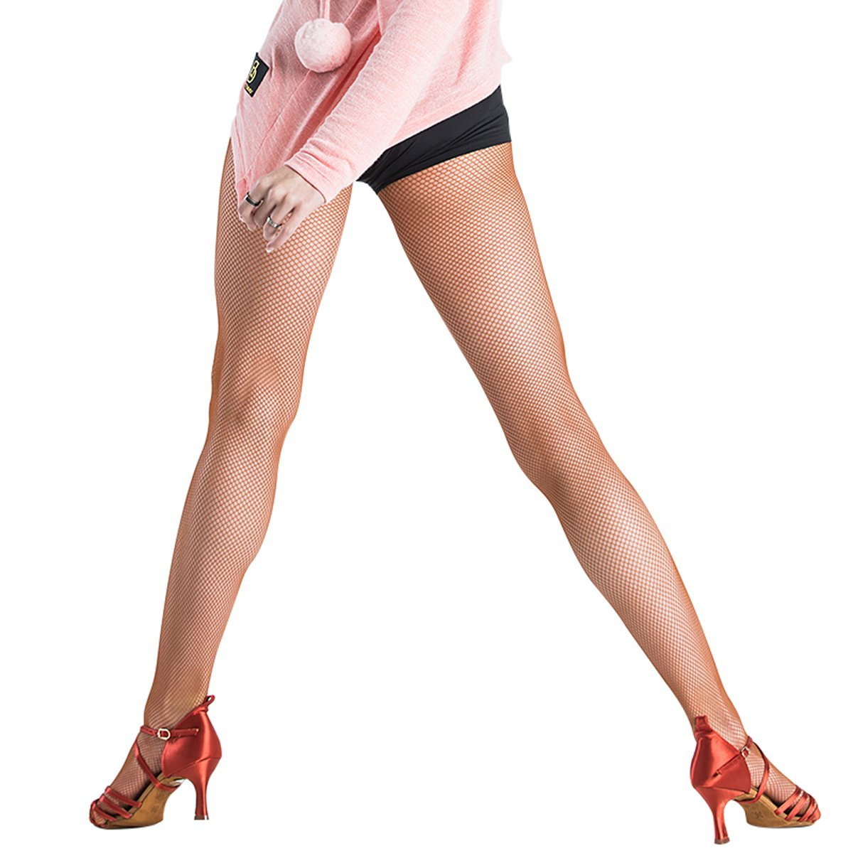 adfd89aef00 Amazon.com  Pitping Professional Latin Dance Pantyhose Stockings Socks  Fishnet Seamless Tights Dancing Race  Clothing