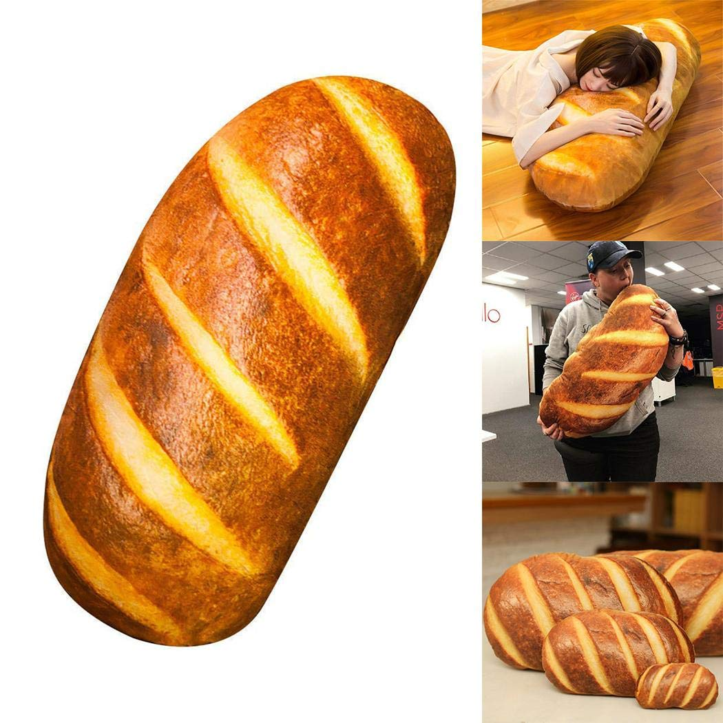 XioNiu 3D HD Prints Butter Bread Shape Pillow Plush Toys for Home Decor Pillows
