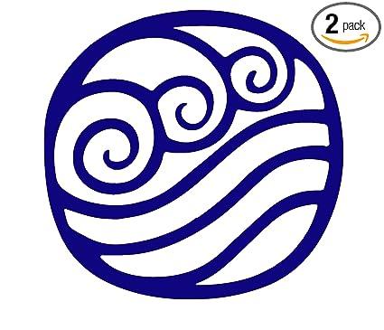 Angdest Avatar The Last Airbender Waterbending Symbol Navy Blue