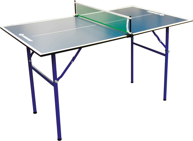 Donic-Schildkröt Tenis Schildkröt Mesa de Ping Pong Midi XL, 120 x 70 x 68 cm, Jardín Pequeño o el Hogar, 838579, Azul