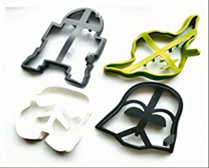 Star Wars Silicone Pancake Molds, Set of 4 Heroes and Villains: Darth Vader, Stormtrooper, R2-D2 and Yoda