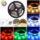 Strisce LED Posteriore di Illuminazione Kit Alimentate con Telecomando e Scatola Impermeabile 16 Colori 1M/3.28ft Flessibile Luci RGB 5050 per Cucina Bar FestaTV Retroilluminazione Home Theater