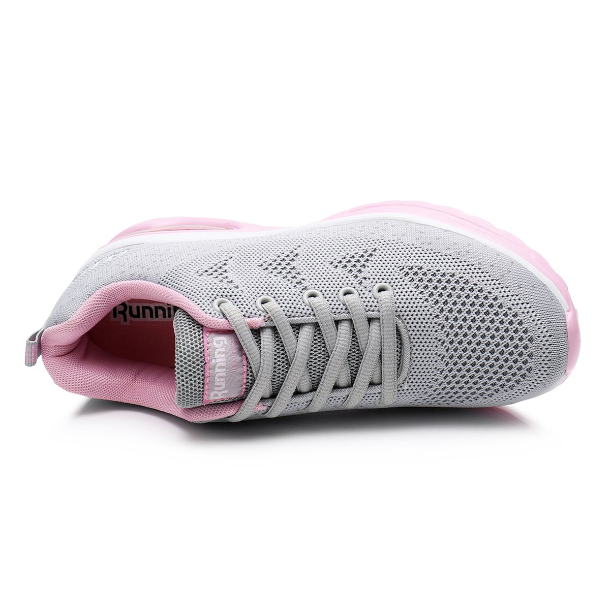 JARLIF Women's Lightweight Athletic Running Fitness Shoes Breathable Sport Air Fitness Running Gym Jogging Sneakers US5.5-10 B07DCHJLL2 7.5 M US|Greypink 02c4a8