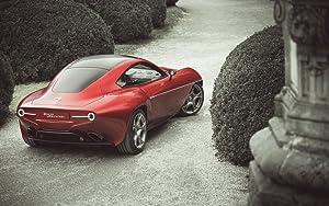 Alfa Romeo Disco Volante Touring Superleggera 2 12X18 Metal Wall Art