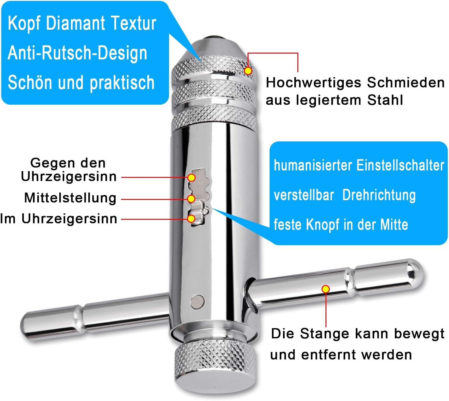 Stahlblech M12x1.75mm Spiralgewindebohrer Hochgeschwindigkeitsstahl Praktisches Schraubengewindebohrwerkzeug zur Verarbeitung von Edelstahl Kupfer ASHATA M12x1.75mm Spiralgewindebohrer