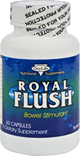 product image for Oxylife Royal Flush Bowel Stimulation - 60 Capsules - Help your system to eliminate toxins and poisons