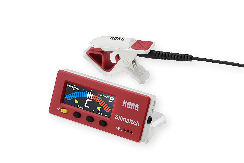Korg SLM1CMRW Slimpitch Tuner Red White - New SLM-1CM-RW