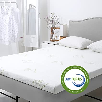 Amazon Com Langria 3 Inch Gel Infused Memory Foam Mattress Topper