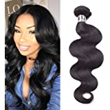 Star Show Hair Malaysian Virgin Hair Body Wave 4 Bundles Malaysian Body Wave Hair Extensions 100% Unprocessed Human Hair Weave Natural Color (100+/-5g)/bundle