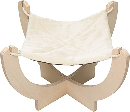 Pawmona 13 Cat Dog hammock- Perfect pet bed for cats or dogs Great for small to medium home pets Made with Natural Birch Wood Soft cat and dog bed Hammock Machine Washable – Made in Georgia
