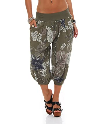 2c2e2d79d52 ZARMEXX Women s Capri Pants Harem pants 3 4 Trousers All Over Print Summer  pants Knickebocker