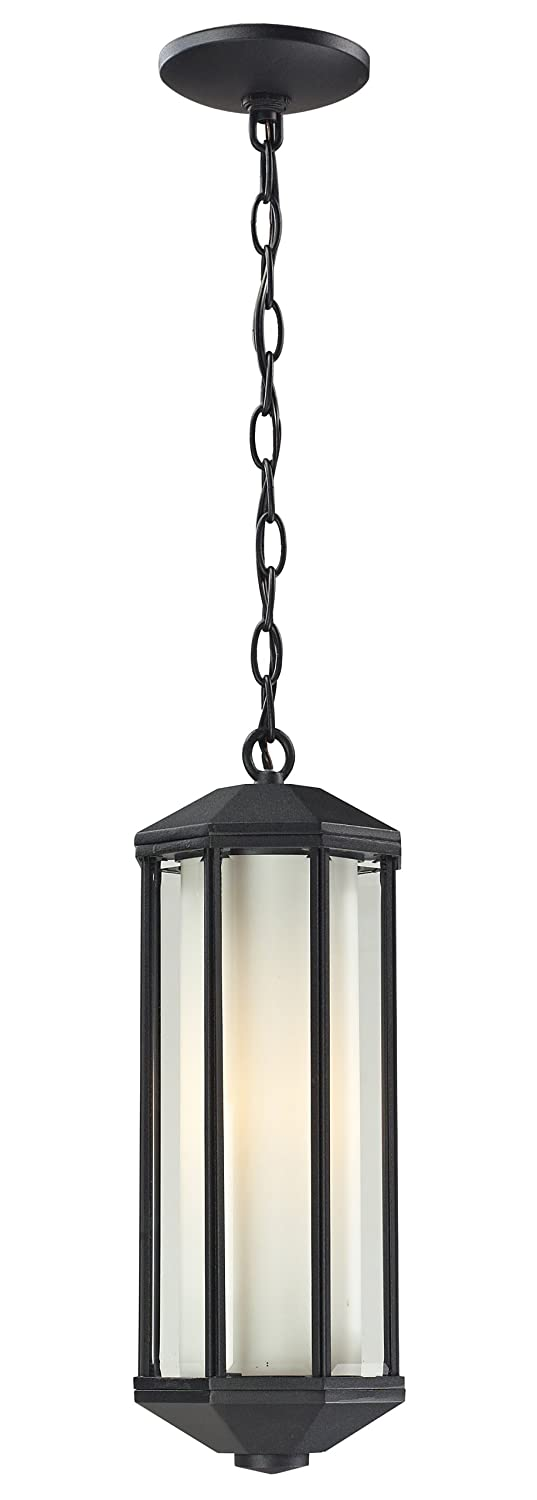 Z-Lite 525CH-BK Cylex Outdoor Chain Light, Aluminum Frame, Black Finish and Matte Opal Shade of Glass Material by Z-Lite B00BLR9PZC