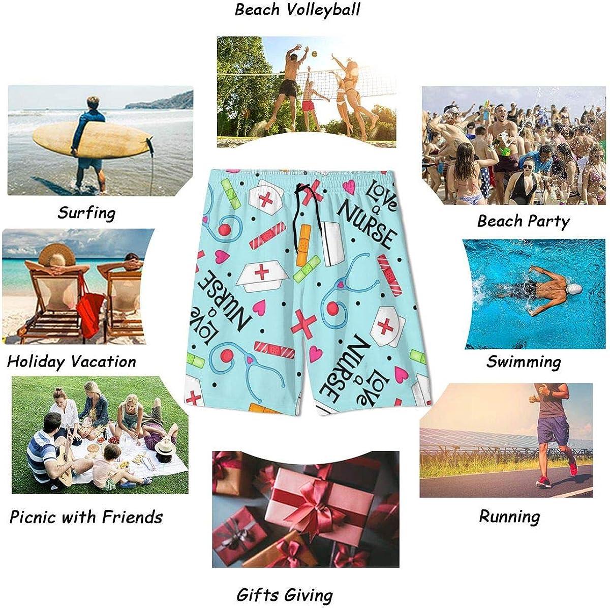 NiYoung Breathable Men /& Boys Big /& Tall Cargo Short Board Shorts for Beach Gym Sport