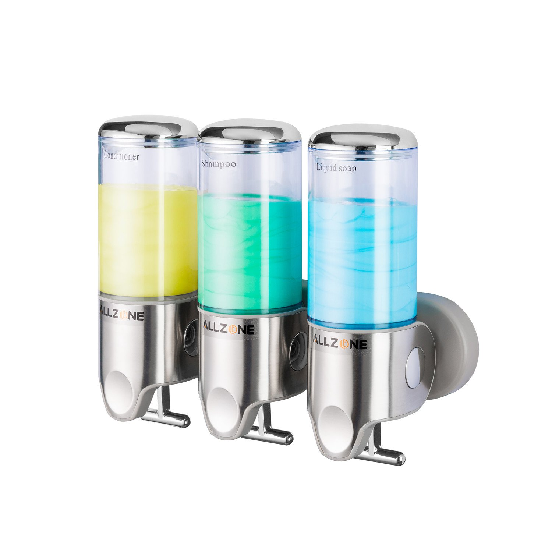 Amazon.com: ALLZONE Shower Soap Dispenser, Powerful Silicone Sticky ...