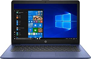 "HP Stream - 14-ds0003dx Home and Entertainment Laptop (AMD A4-9120e 2-Core, 4GB RAM, 64GB eMMC, AMD Radeon R3, 14.0"" HD (1366x768), WiFi, Bluetooth, Webcam, 1xHDMI, SD Card, Win 10 Home) (Renewed)"