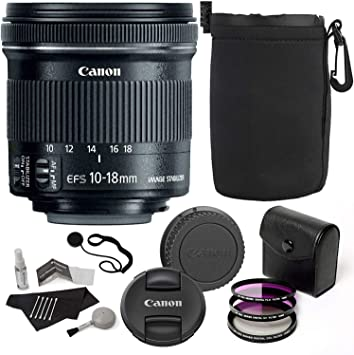 Complete Accessory Kit 11 Items Canon EF-S 10-18mm f//4.5-5.6 is STM Lens for Canon DSLR Cameras /& SanDisk 64GB Class 10 Memory Card