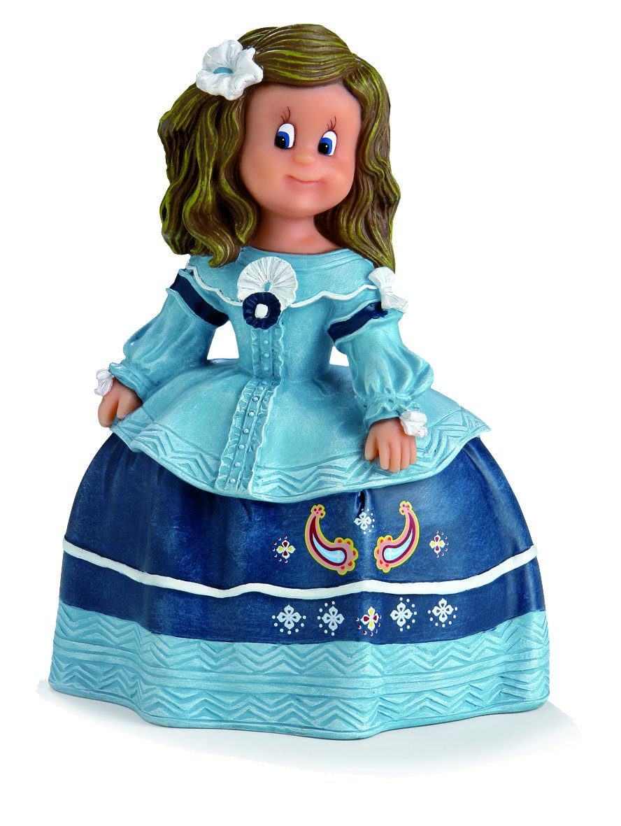 6.50x9.50x14.00 cm Multicolor Resina Nadal Figura Decorativa menina posando