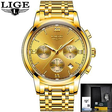 Mens Watches Top Luxury Business Quartz Watch Men Full Steel Fashion Waterproof Sport Clock Relogio Masculino