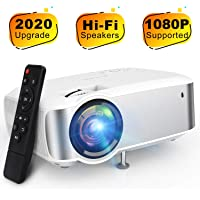 Video Projector, TOPVISION 1080P Supported Ugpraded LED Projector with 4200Lux, 60,000 Hrs Home Movie Projector for…>