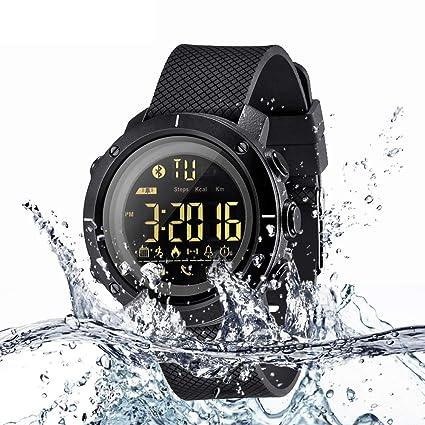 ZMH 50 Metros Impermeable Reloj Inteligente Podómetro Smartwatch Mensaje Recordar a Hombres Mujeres Reloj Digital para