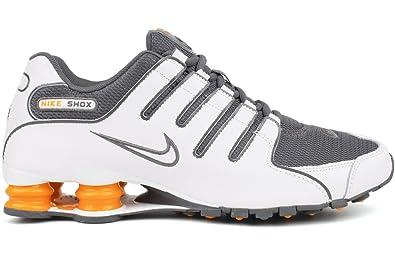 79505ba6d6e Nike Shox NZ Mens Running Shoes 378341-138 White 8 M US  Amazon.de ...