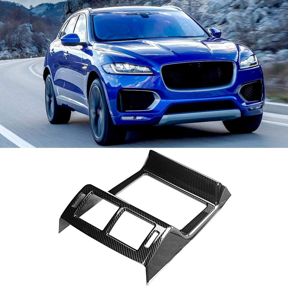 Car Air Conditioning Trim Cover,Car Rear Air Conditioning Vent Frame Trim Carbon Fiber Texture Fit for F-PACE X761 16-18