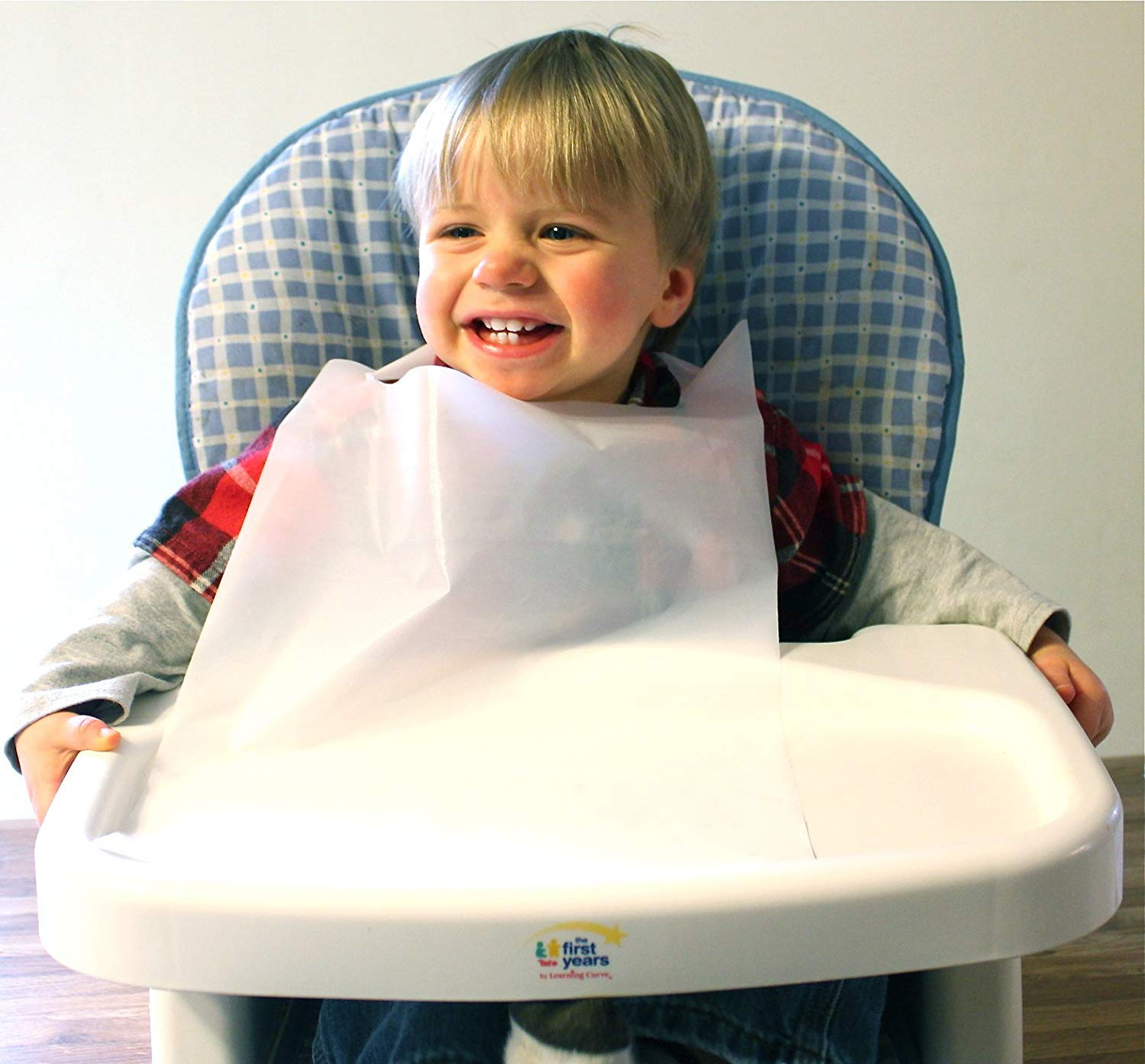 Disposable White Children's Bibs Case of 500 Plastic Free Shipping by Tidi