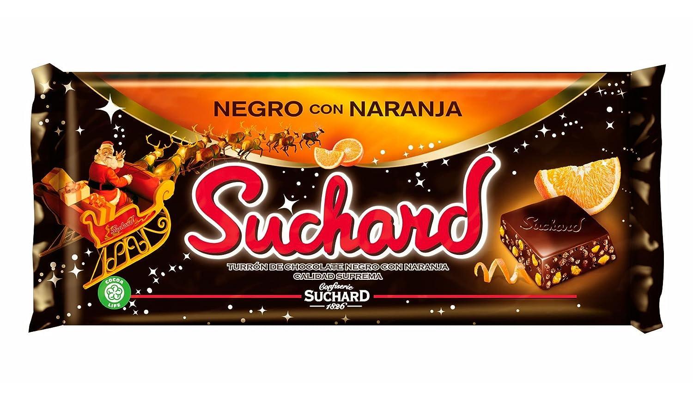Suchard Turrón Chocolate Negro con Naranja - 260 g: Amazon.es: Amazon Pantry