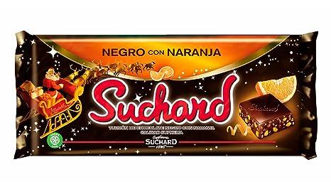 Suchard Turrón Chocolate Negro con Naranja - 260 g