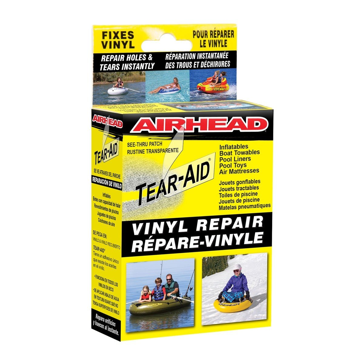 Kwik Tek Orange Cycle Parts Tear Aid Type B Vinyl Repair Patch Kit for Inflatables, Boat Towables, Pool Liners, Air Mattress and more by Airhead AHTR-1B