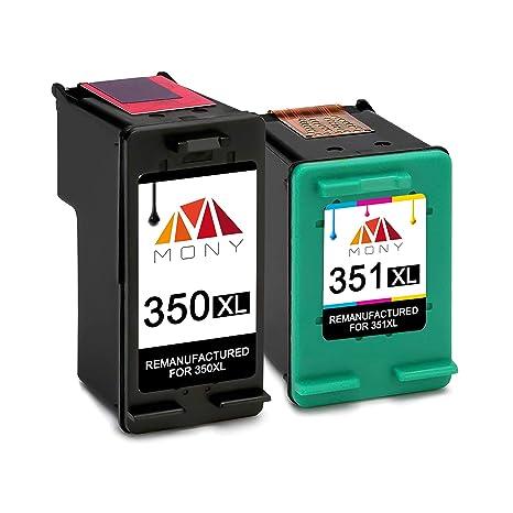 Mony Remanufacturado Cartuchos de Tinta para HP 350 351 XL 350XL ...