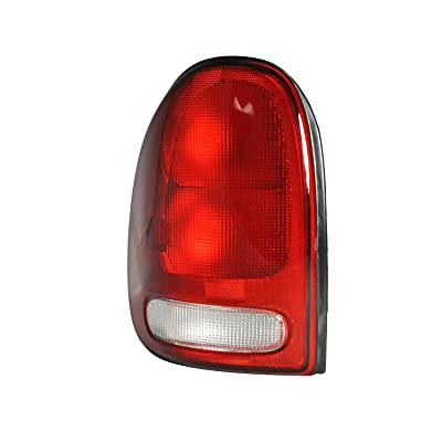 Left Driver Side Taillight Tail Light Lamp for 1996-2000 Chrysler Town & Country, Dodge Caravan, Plymouth Voyager, 1998-2003 Dodge Durango - CH2800125: Automotive
