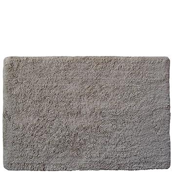 Laroom 12769 Tapis Coton Poil 3 Cm Couleur Gris Clair Amazon Fr