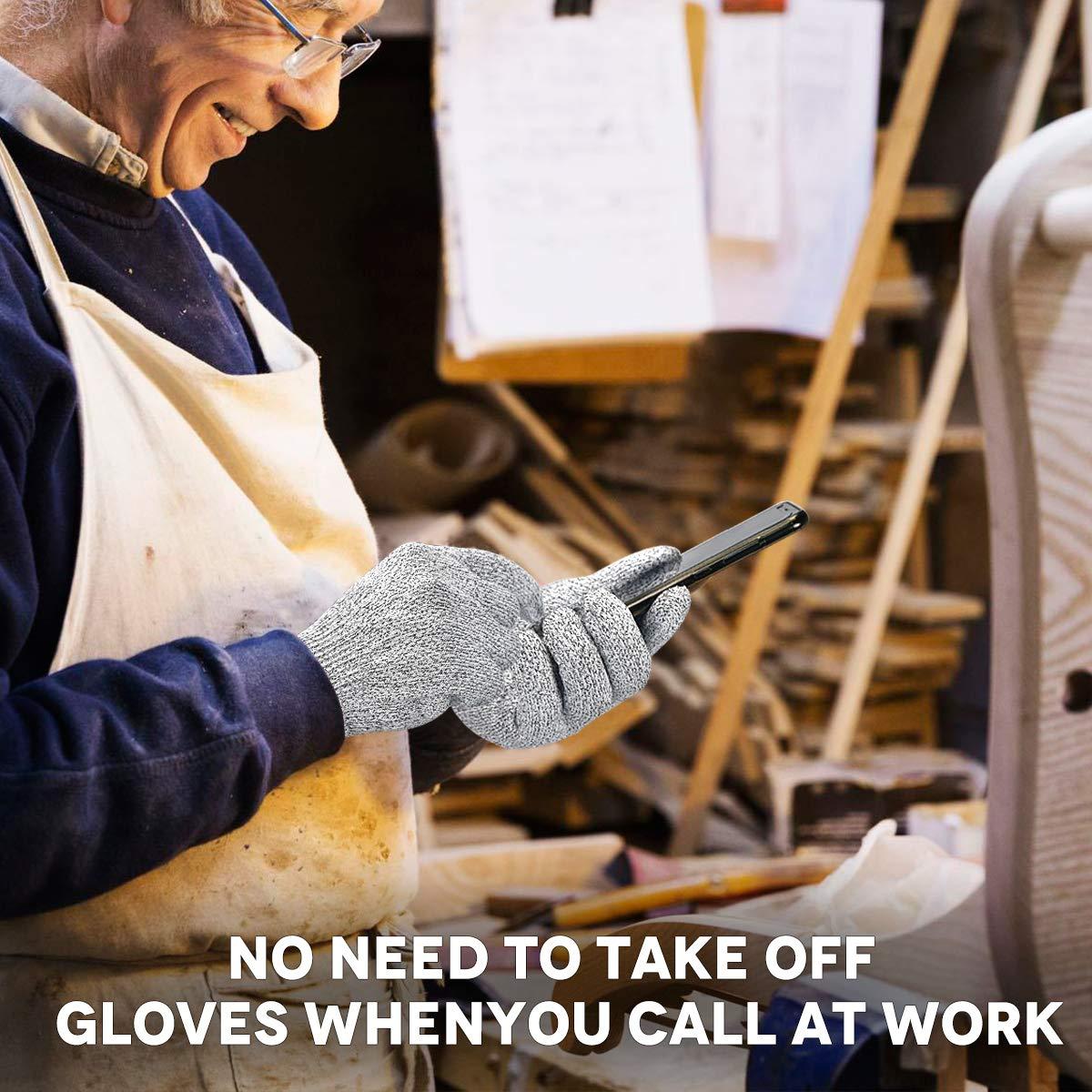Cut Resistant Gloves Cutting Kitchen Work Safety Gloves Kevlar Gloves for Kitchen Mandala Slicer Vegetable Slice Fruit Peeling Wood Carving Garden