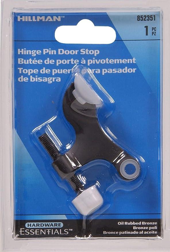 852353 Hinge Pin Door Stops Solid and Hollow Doors OIL RUBBED BRONZE