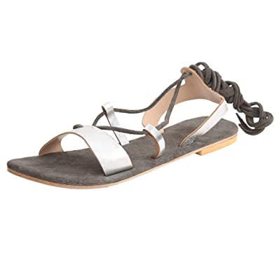 264ae543f Suede Leather Tip Up Ankle Length Sandal Stylish Sandal Womens Silver