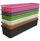 CSM Baskets Multipurpose Storage Basket Combo of 6 Small Size (Dimensions = 27 cm x 8 cm x 4.5 cm)