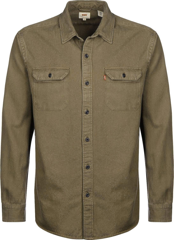 Levis ® Jackson Worker Camisa de Manga Larga Olive Night 2: Amazon.es: Ropa y accesorios