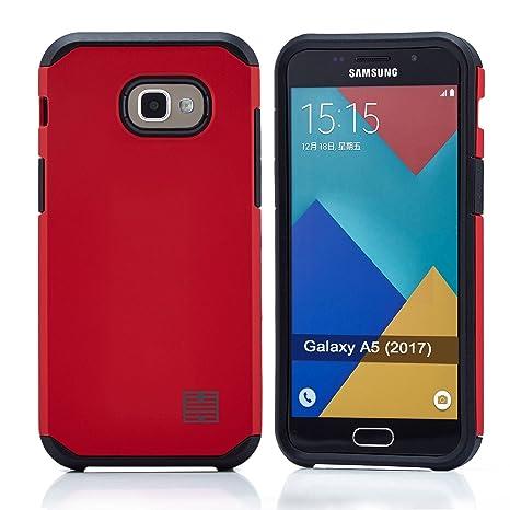 32nd Funda Armadura Rigida Slim Armour con Doble Carcasa para Samsung Galaxy A5 (2017) - Rojo