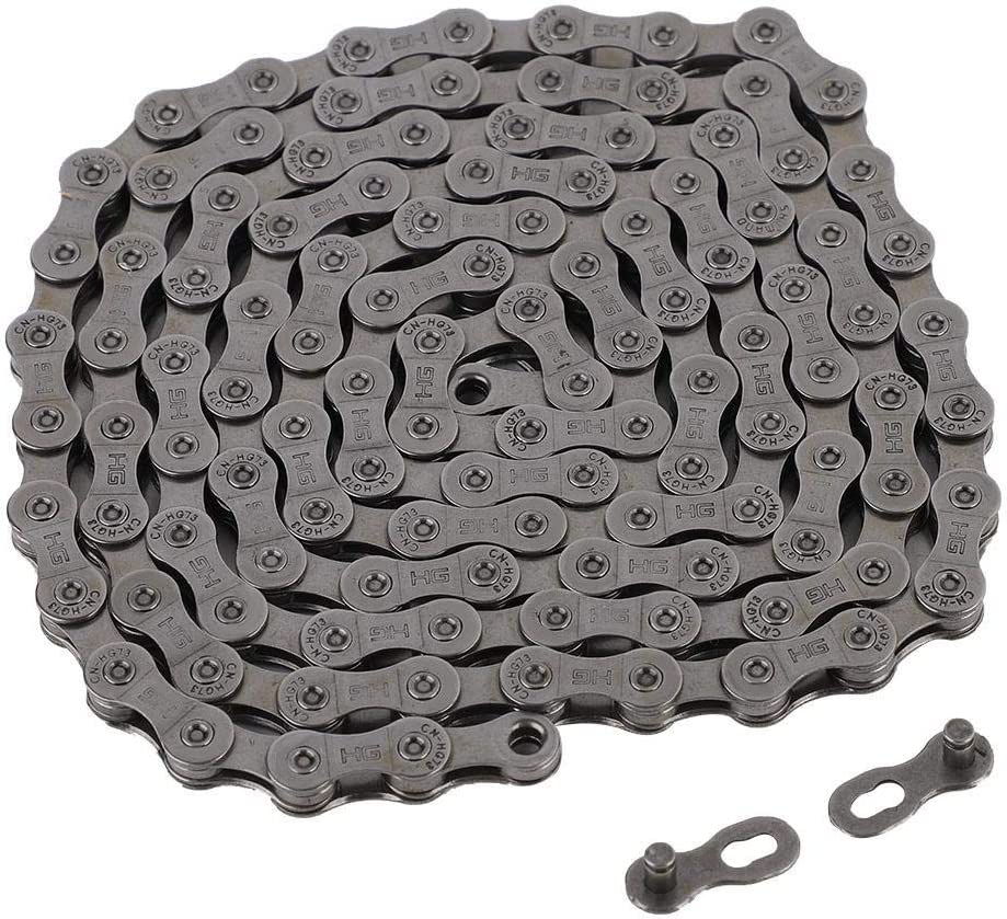 VGBEY Cadena de Bicicleta, Cadenas de Bicicleta de Velocidad 9/27 Cadenas de Candados de Metal para Bicicleta de Montaña de Carretera