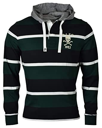 0aef93db5eb Polo Ralph Lauren Men's Cotton Hooded Long Sleeve Rugby Shirt at Amazon  Men's Clothing store: