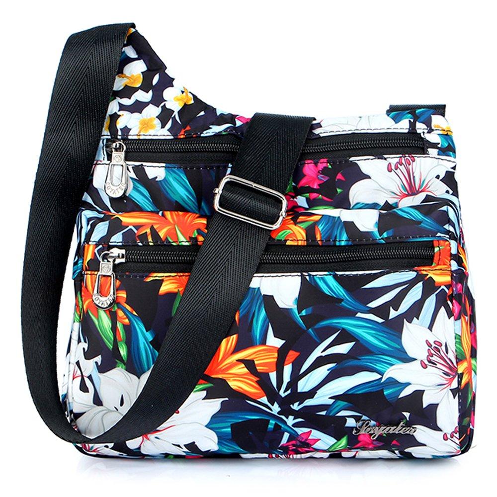 STUOYE Nylon Multi-Pocket Crossbody Purse Bags for Women Travel Shoulder Bag Lily