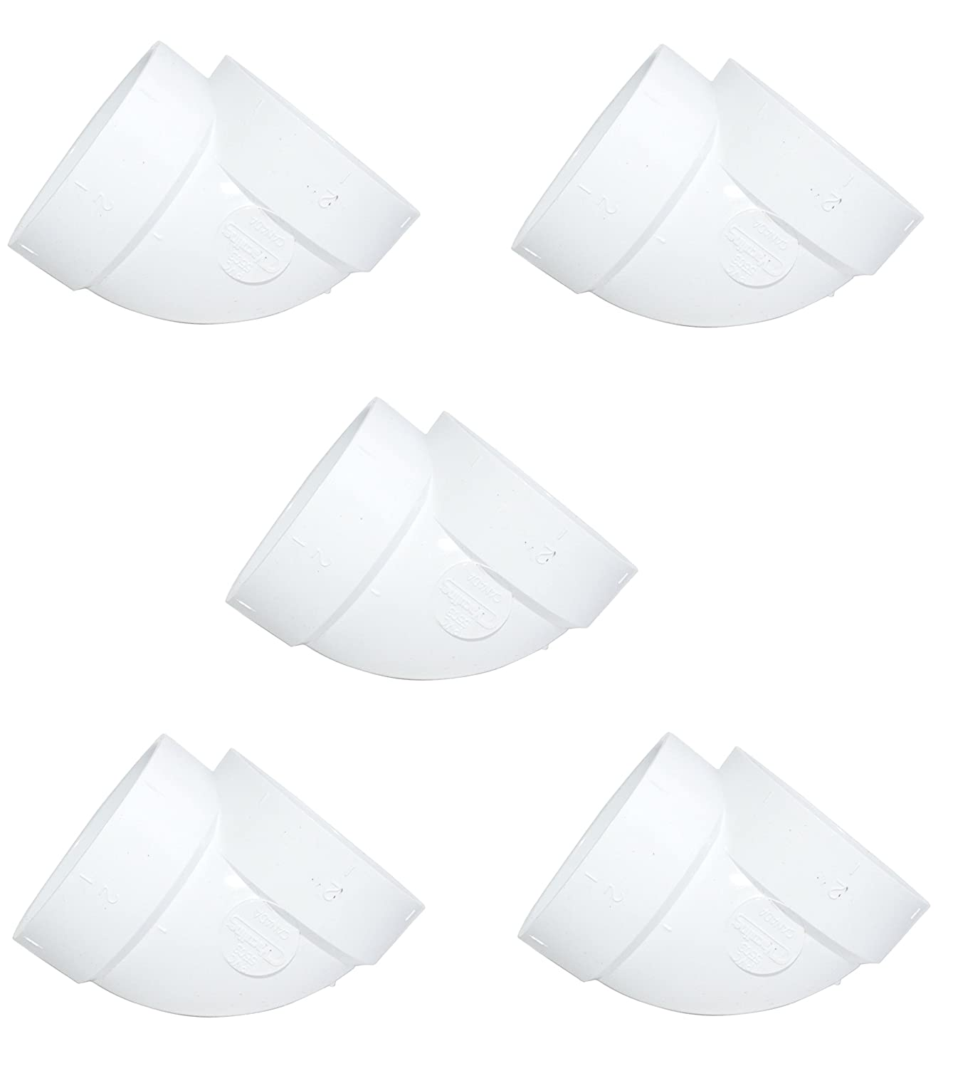 ZVac 5 Central Vacuum Cleaner Short 90 Fittings for All Central Vacuum Systems Including: Electrolux Eureka Filtex Frigidaire Hayden Honeywell Imperium MD Nadair Nutone (5, Short 90)